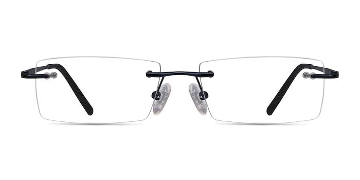 Regis Blue Metal Eyeglass Frames from EyeBuyDirect
