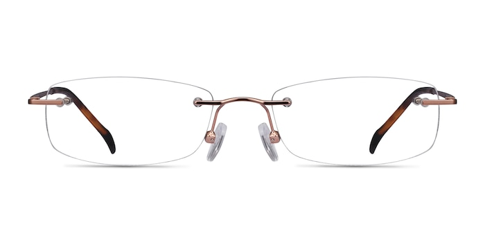 Lithe Rose Gold Metal Eyeglass Frames from EyeBuyDirect
