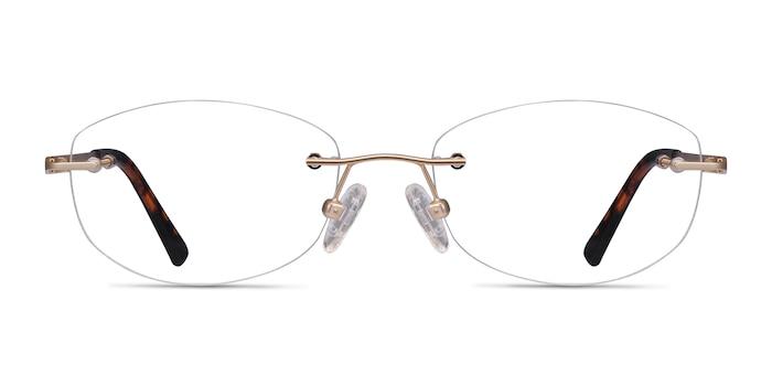 Athena Gold Metal Eyeglass Frames from EyeBuyDirect