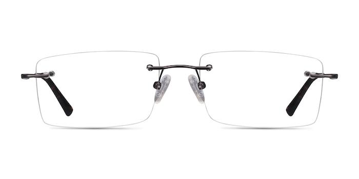 Evolve Gunmetal Metal Eyeglass Frames from EyeBuyDirect