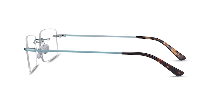 Evolve Blue Metal Eyeglass Frames from EyeBuyDirect