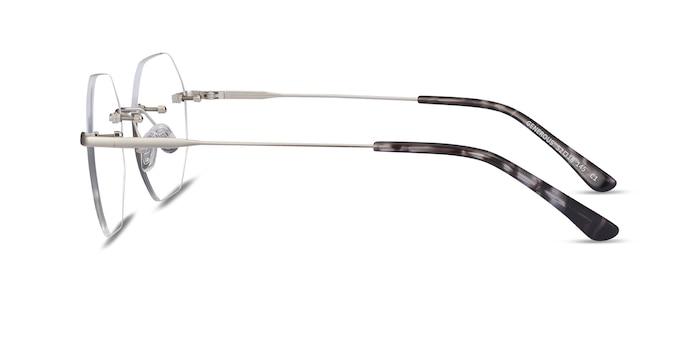 Generous Matte Silver Metal Eyeglass Frames from EyeBuyDirect