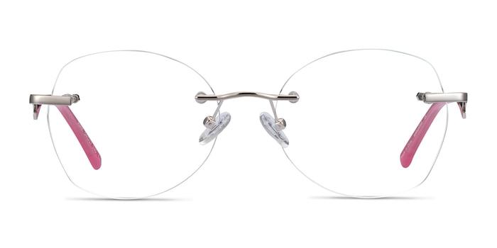 Ajar Silver Metal Eyeglass Frames from EyeBuyDirect