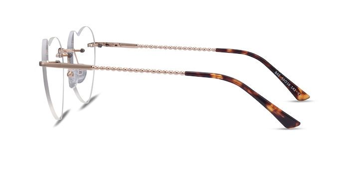 Bae Gold Metal Eyeglass Frames from EyeBuyDirect