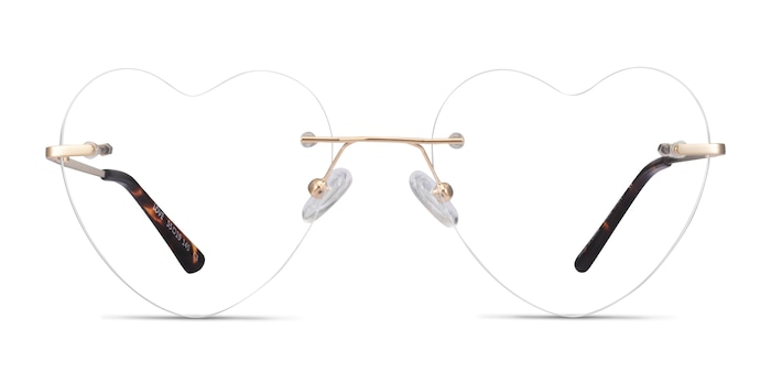 Love Light Gold Metal Eyeglass Frames from EyeBuyDirect