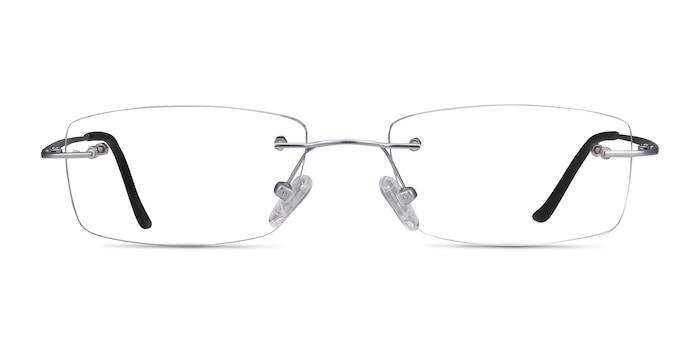 Ebb Silver Titanium Eyeglass Frames from EyeBuyDirect