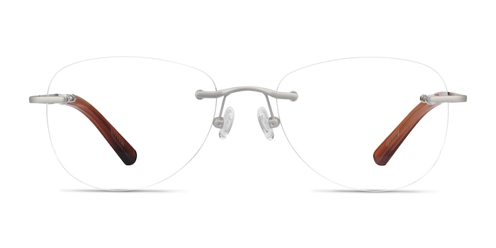 Smooth Argenté Titane Montures de Lunette de vue d'EyeBuyDirect