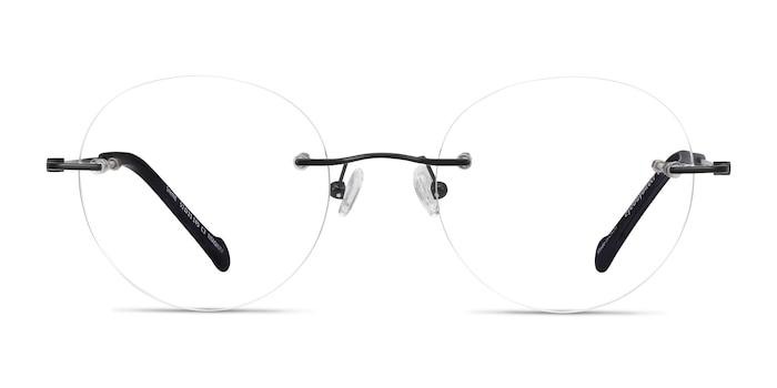 Shine Black Titanium Eyeglass Frames from EyeBuyDirect