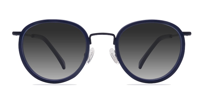 Siena Matte Navy Acetate-metal Sunglass Frames from EyeBuyDirect