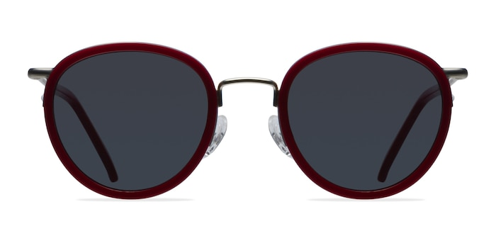 Siena Red Acetate-metal Sunglass Frames from EyeBuyDirect