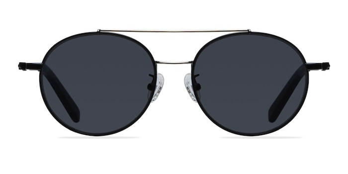 Hendrix Black/Silver Metal Sunglass Frames from EyeBuyDirect