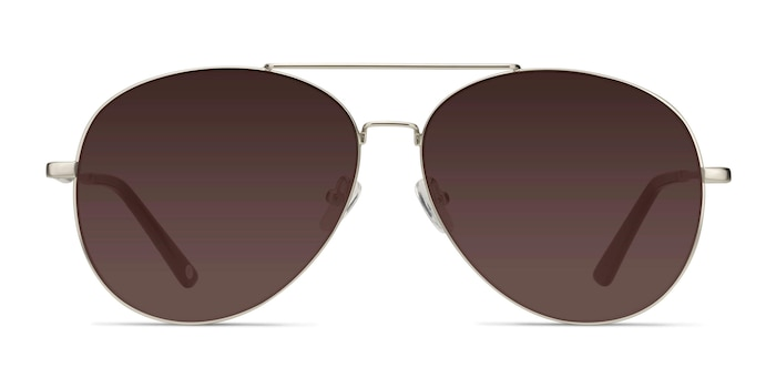 Camp  Matte Silver  Metal Sunglass Frames from EyeBuyDirect