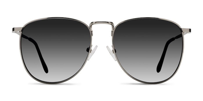 Fume Silver Metal Sunglass Frames from EyeBuyDirect