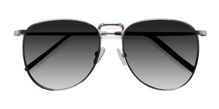 Silver Fume -  Vintage Metal Sunglasses