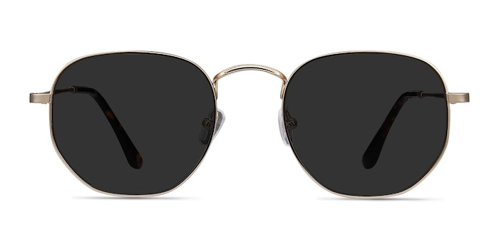 Boardwalk Golden Metal Sunglass Frames from EyeBuyDirect