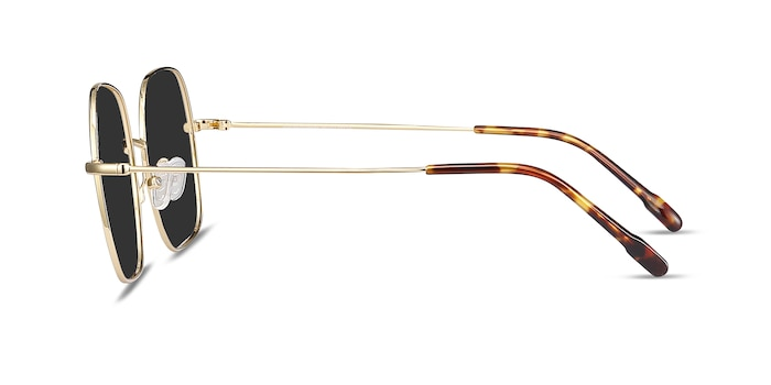 Sun Movement Golden Metal Sunglass Frames from EyeBuyDirect