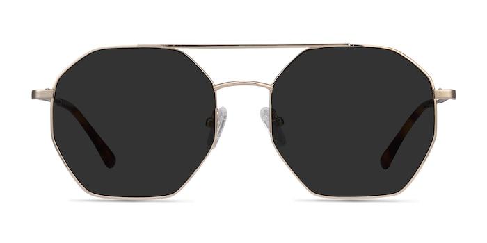 Sun Eight Golden Metal Sunglass Frames from EyeBuyDirect
