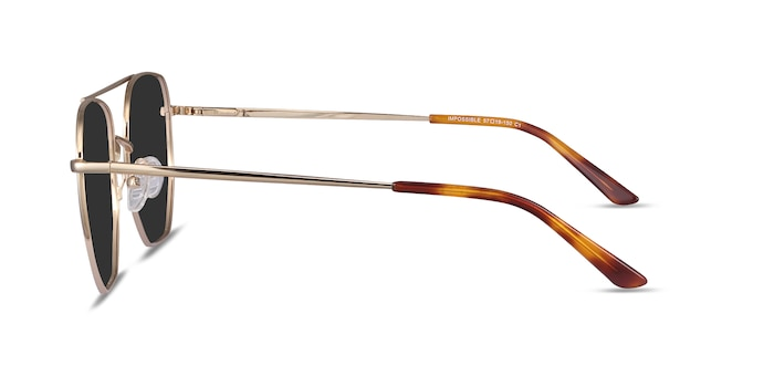 Impossible Golden Metal Sunglass Frames from EyeBuyDirect