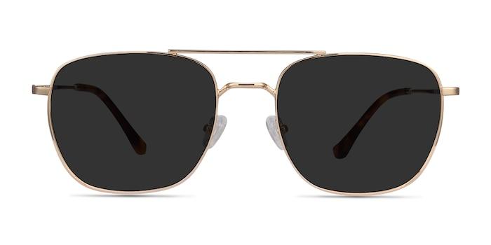 Seeker Golden Metal Sunglass Frames from EyeBuyDirect