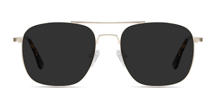 Sun Fame Golden Metal Sunglass Frames from EyeBuyDirect