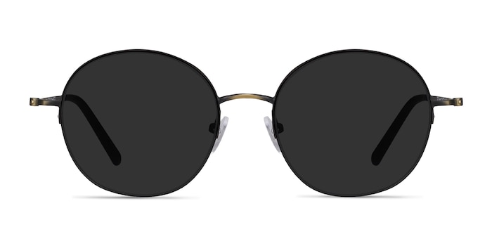 Sun Albee Black Bronze Metal Sunglass Frames from EyeBuyDirect