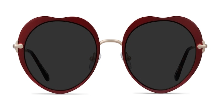 Luv Burgundy Metal Sunglass Frames from EyeBuyDirect