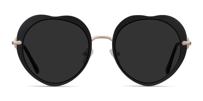 Luv Black Metal Sunglass Frames from EyeBuyDirect