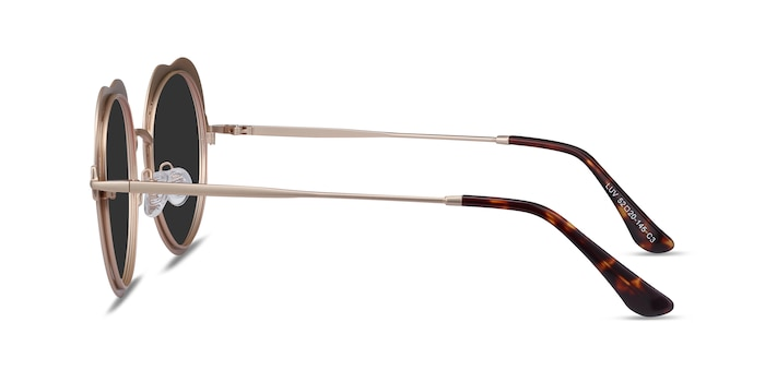 Luv Rose Gold Metal Sunglass Frames from EyeBuyDirect