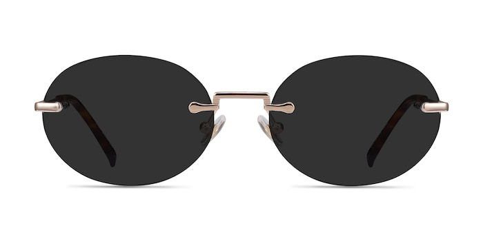 Daze Rose Gold Metal Sunglass Frames from EyeBuyDirect
