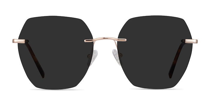 Genoa Rose Gold Metal Sunglass Frames from EyeBuyDirect