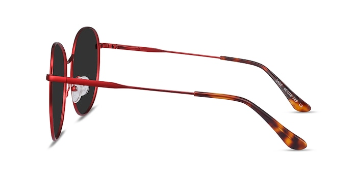 Sage Red Metal Sunglass Frames from EyeBuyDirect