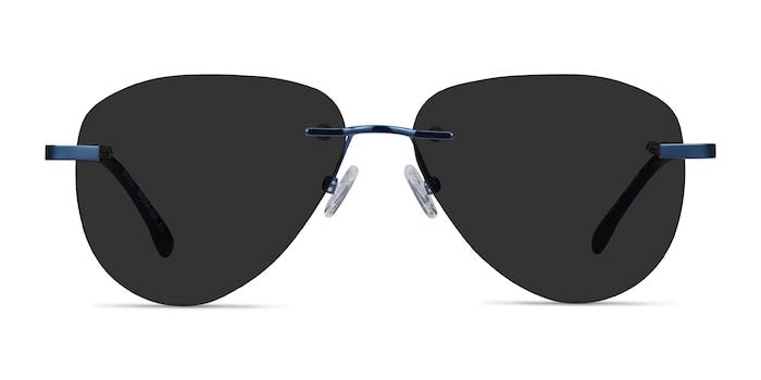 Locket Navy Metal Sunglass Frames from EyeBuyDirect