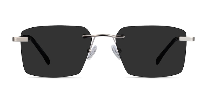 Invent Matte Silver Metal Sunglass Frames from EyeBuyDirect