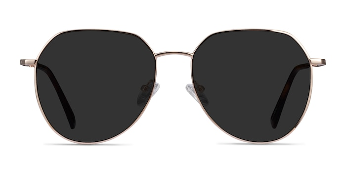 Carlsbad Gold Metal Sunglass Frames from EyeBuyDirect