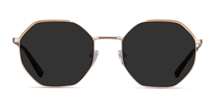 Elsa Gold Metal Sunglass Frames from EyeBuyDirect