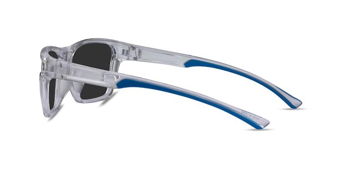 Win Clear & Blue Plastic Sunglass Frames from EyeBuyDirect
