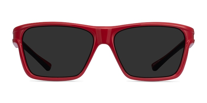 Win Red & Black Plastic Sunglass Frames from EyeBuyDirect
