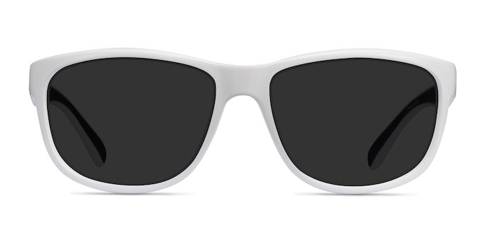 Determined White Plastic Sunglass Frames from EyeBuyDirect
