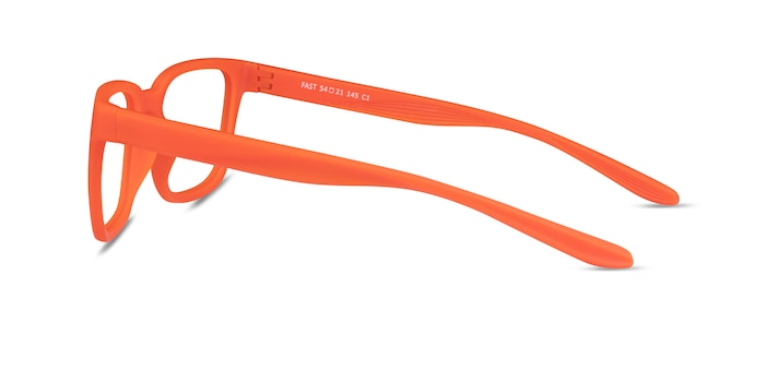 Fast Matte Orange Plastic Eyeglass Frames from EyeBuyDirect