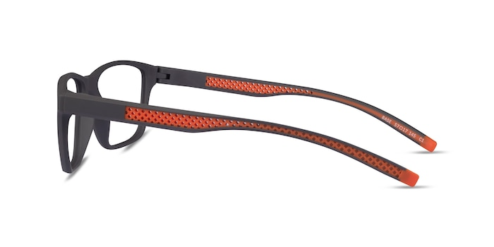 Base Gray Orange Plastique Montures de Lunette de vue d'EyeBuyDirect