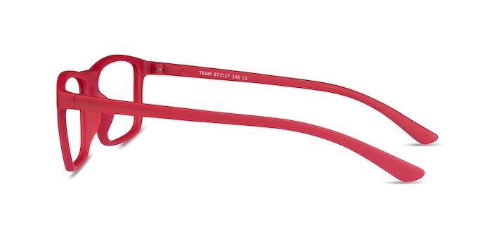 Team Matte Red Acetate Eyeglass Frames from EyeBuyDirect