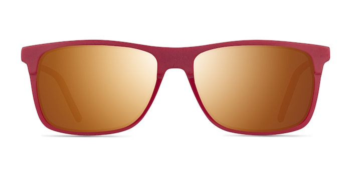 Catch Matte Red Acétate Soleil de Lunette de vue d'EyeBuyDirect