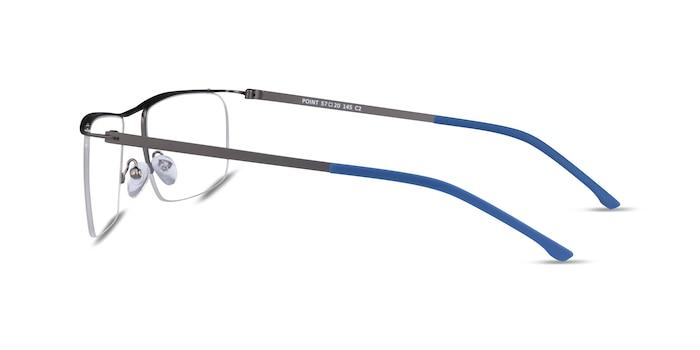 Point Gunmetal  Metal Eyeglass Frames from EyeBuyDirect