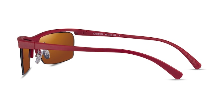 Turnover Matte Red Plastic Sunglass Frames from EyeBuyDirect