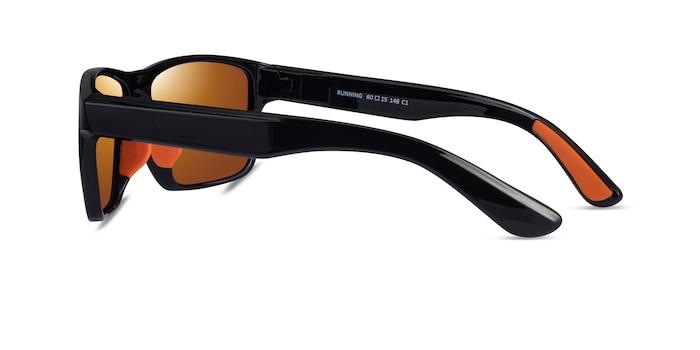Running Black Orange Plastique Soleil de Lunette de vue d'EyeBuyDirect
