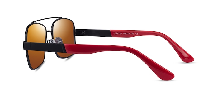 Center Black Red Metal Sunglass Frames from EyeBuyDirect