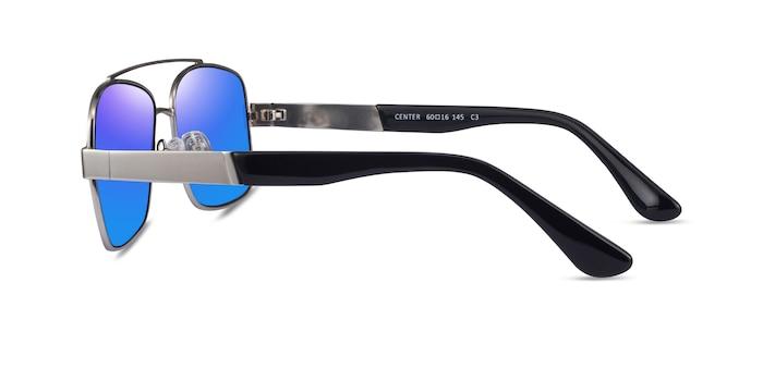 Center Silver Black Metal Sunglass Frames from EyeBuyDirect