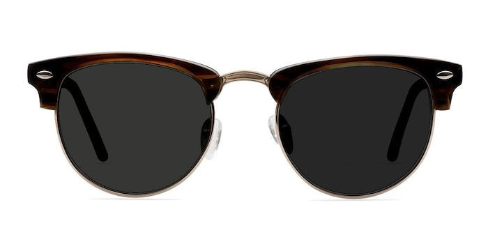 The Hamptons Brown Golden Acetate-metal Sunglass Frames from EyeBuyDirect