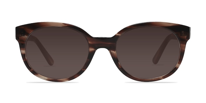 Matilda Brown/Tortoise Acetate Sunglass Frames from EyeBuyDirect