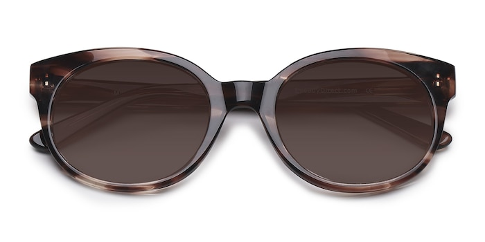 Brown/Tortoise Matilda -  Vintage Acetate Sunglasses
